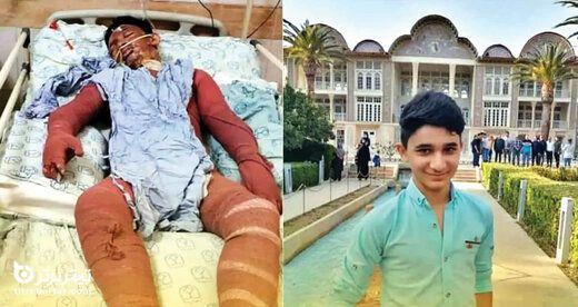 مراسم تشییع پیکر علی لندی 15 ساله | علی لندی کیست و چرا فوت کرد؟