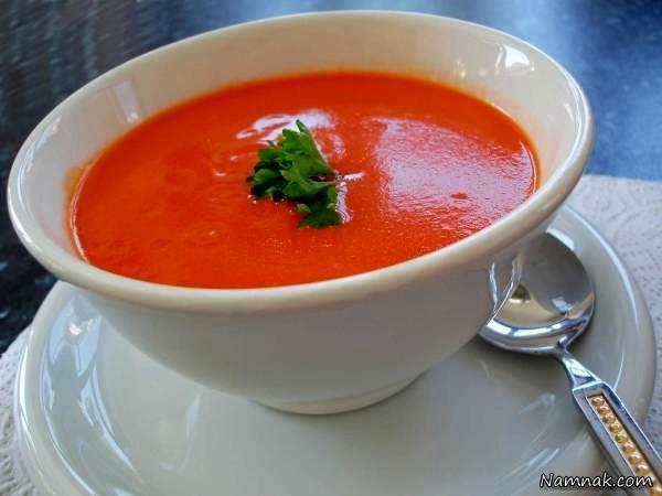 سوپ گوجه فرنگی غذایی مناسب برای بیماران سرطانی