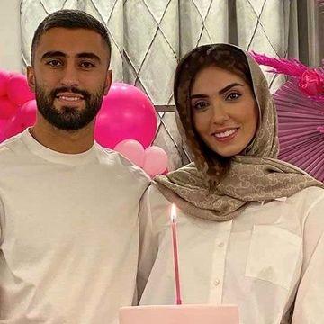 ازدواج کاوه رضایی با این دختر ورزشکار   کاوه رضایی و همسرش فرنوش شیخی