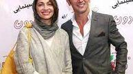 امین حیایی در آغوش همسر اول و دومش + عکس