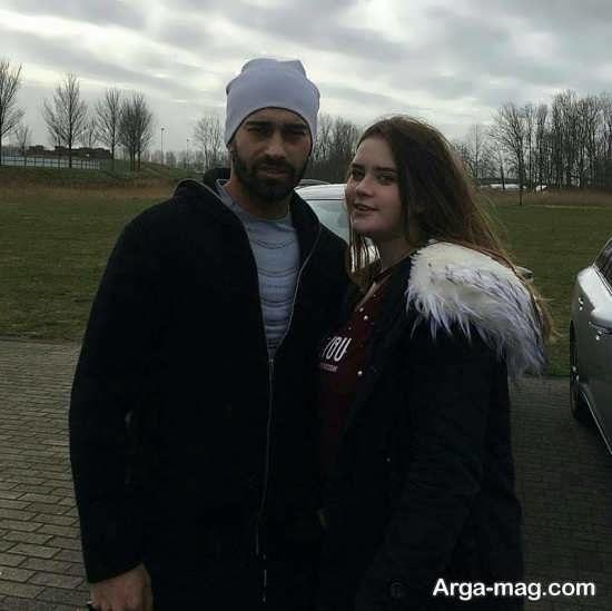 عکس جنجالی و لو رفته از رامین رضایی و دوست دخترش