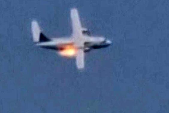 لحظه سقوط هواپیما امروز هنگام پرواز آزمایشی+ فیلم