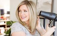 روش صحیح سشوار کشیدن مو