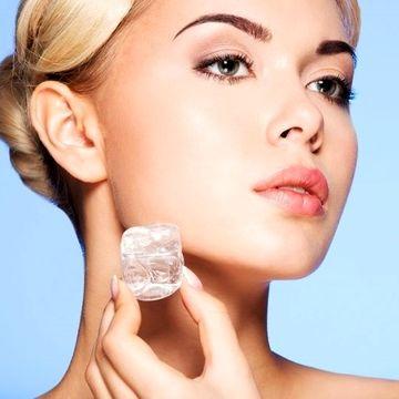 فواید فوری یخ برای پوست